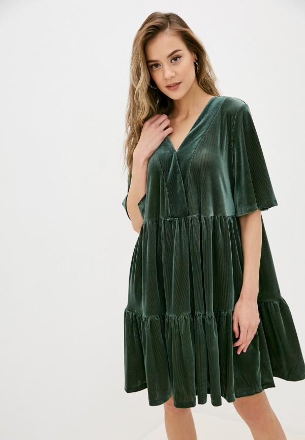 женское повседневные платье sela, зеленое