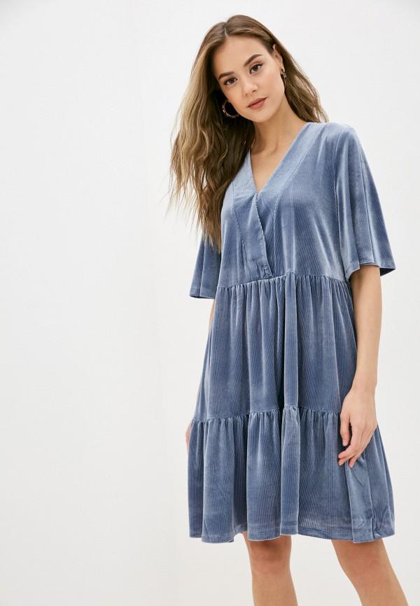 женское повседневные платье sela, голубое