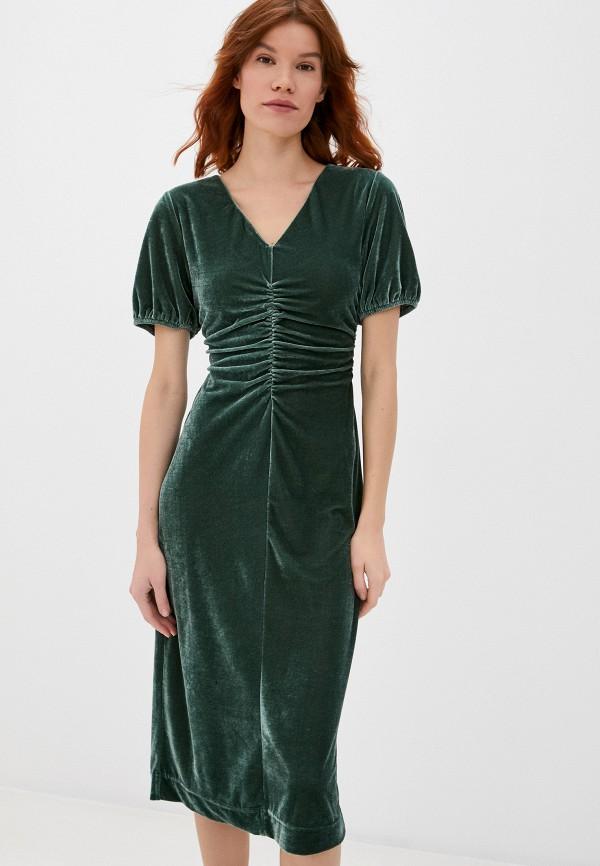 женское вечерние платье sela, зеленое