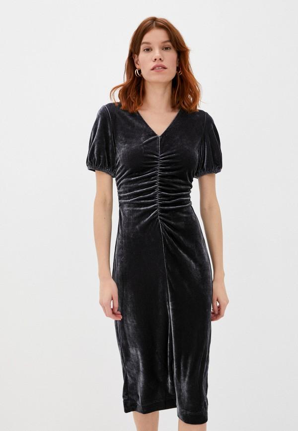 женское вечерние платье sela, серое