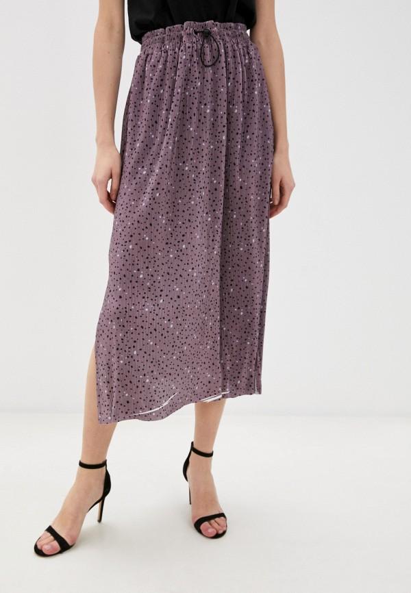 женская плиссированные юбка sela, розовая