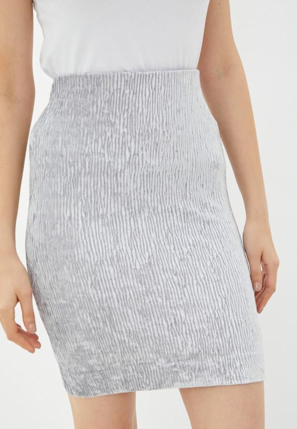женская прямые юбка ruxara, серебряная
