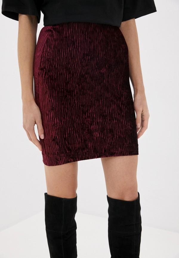 женская прямые юбка ruxara, бордовая