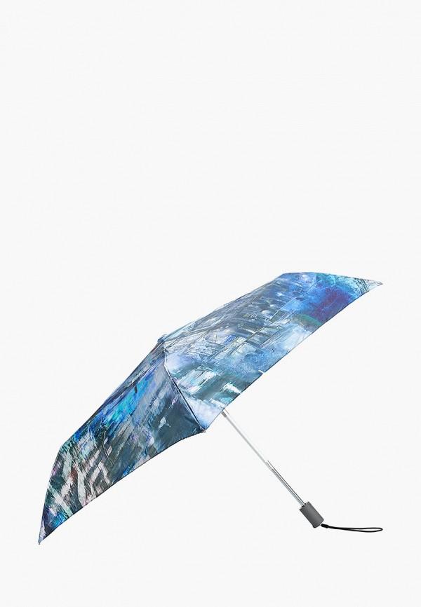 женский складные зонт eleganzza, синий