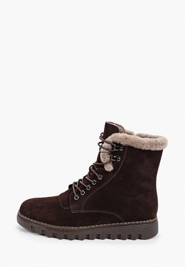 женские высокие ботинки zenden comfort, коричневые