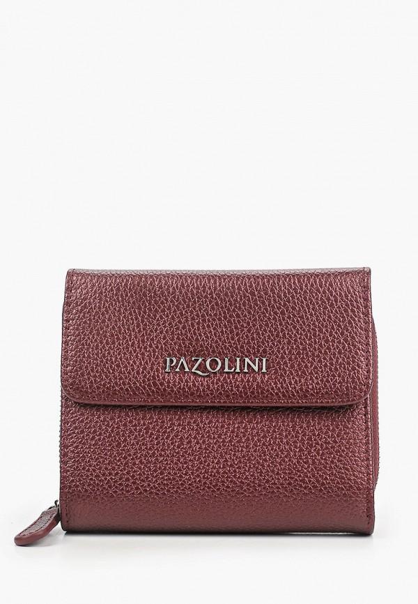 женский кошелёк pazolini, бордовый