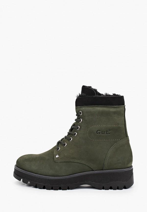 женские высокие ботинки gut, зеленые