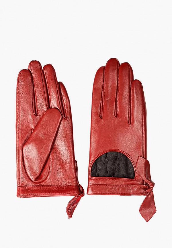 женские кожаные перчатки shpil design, красные