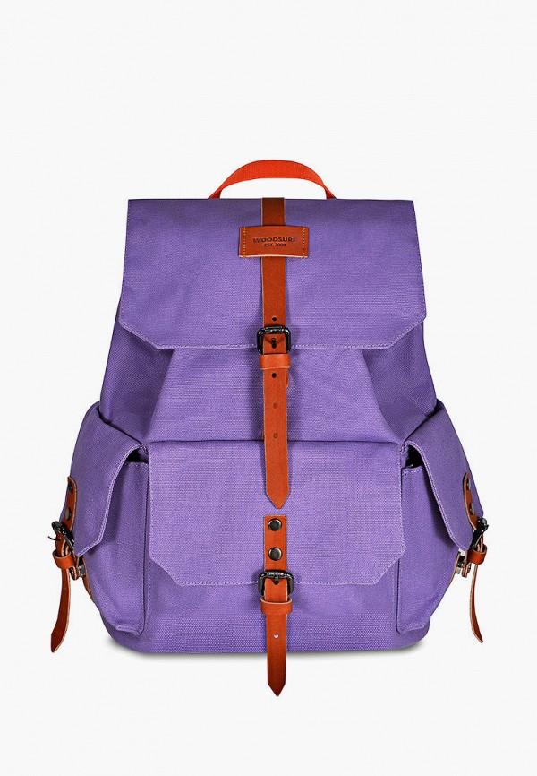 женский рюкзак woodsurf, фиолетовый