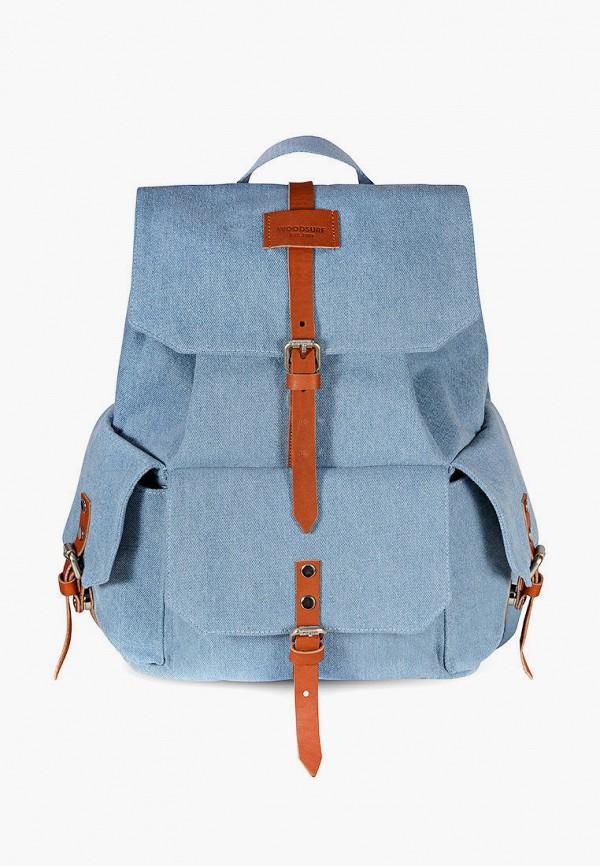 женский рюкзак woodsurf, голубой