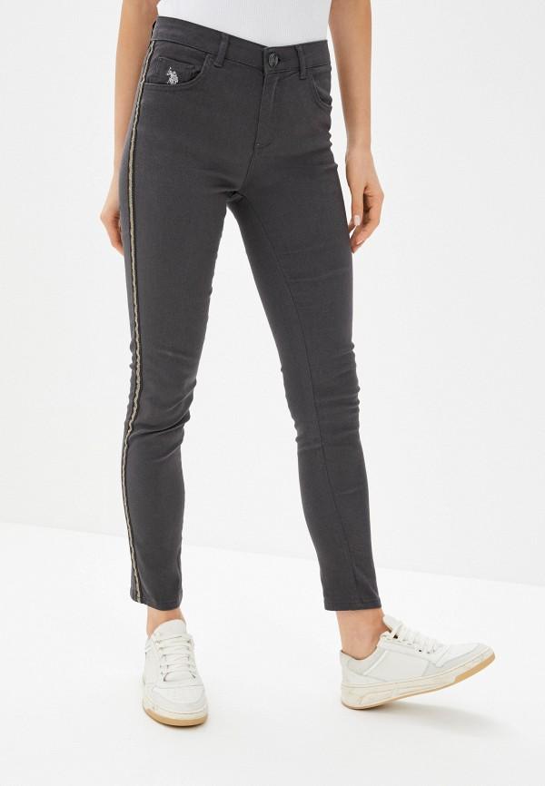 женские джинсы скинни u.s. polo assn, серые