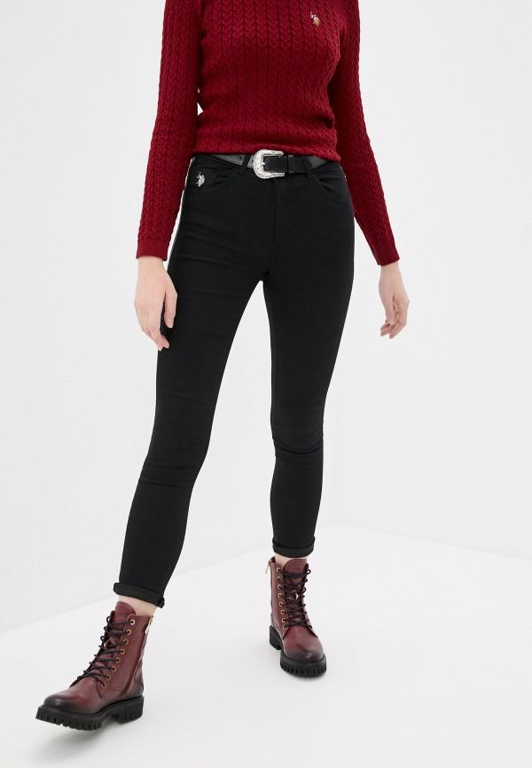 женские джинсы скинни u.s. polo assn, черные