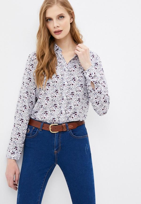 женская рубашка с длинным рукавом u.s. polo assn, белая