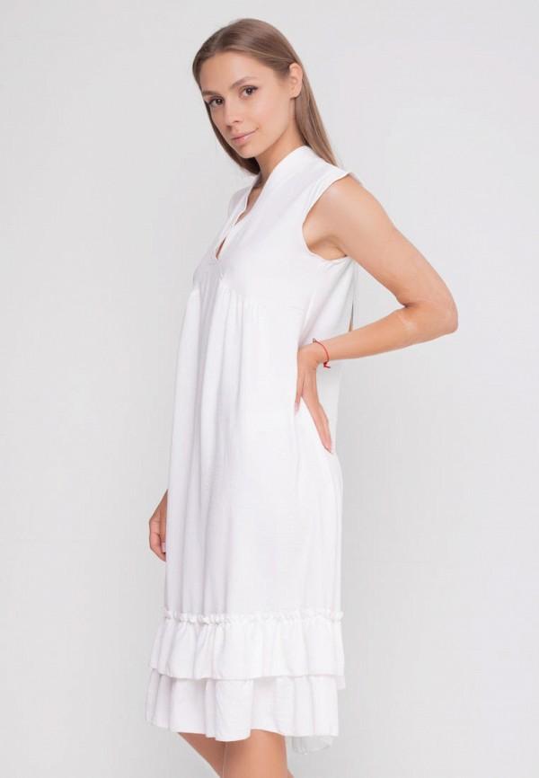 женское повседневные платье sfn, белое
