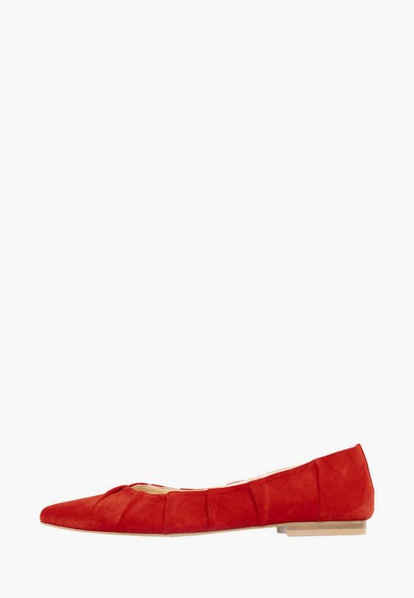 женские балетки lookie, красные
