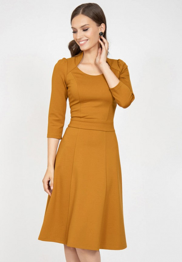 женское повседневные платье grey cat, коричневое