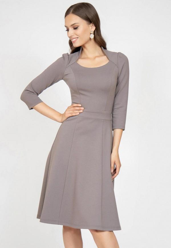 женское повседневные платье grey cat, бежевое