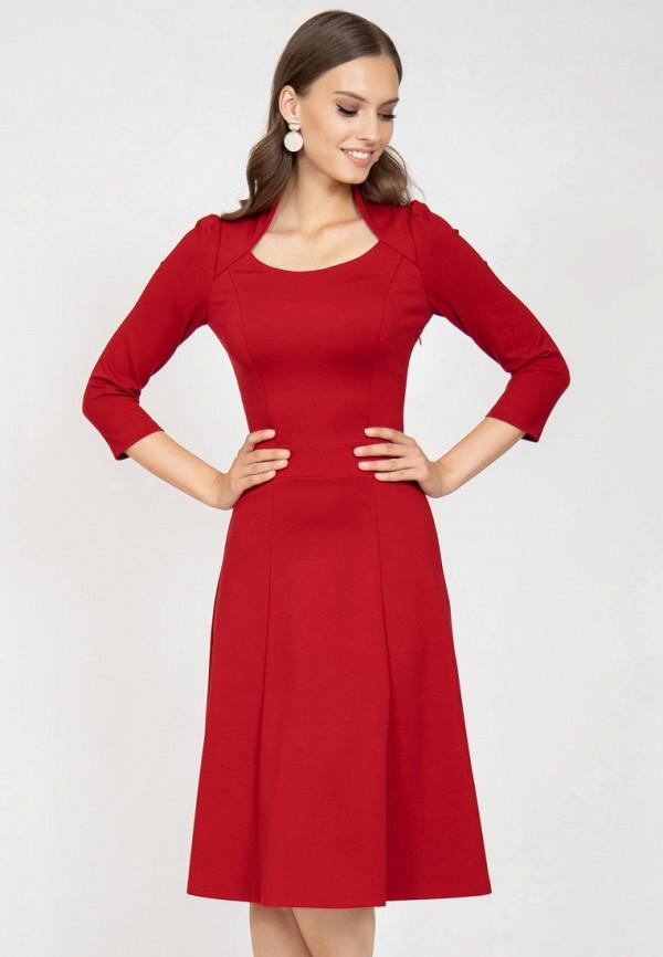 женское повседневные платье grey cat, красное
