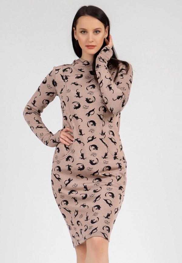 женское платье-толстовки grey cat, бежевое