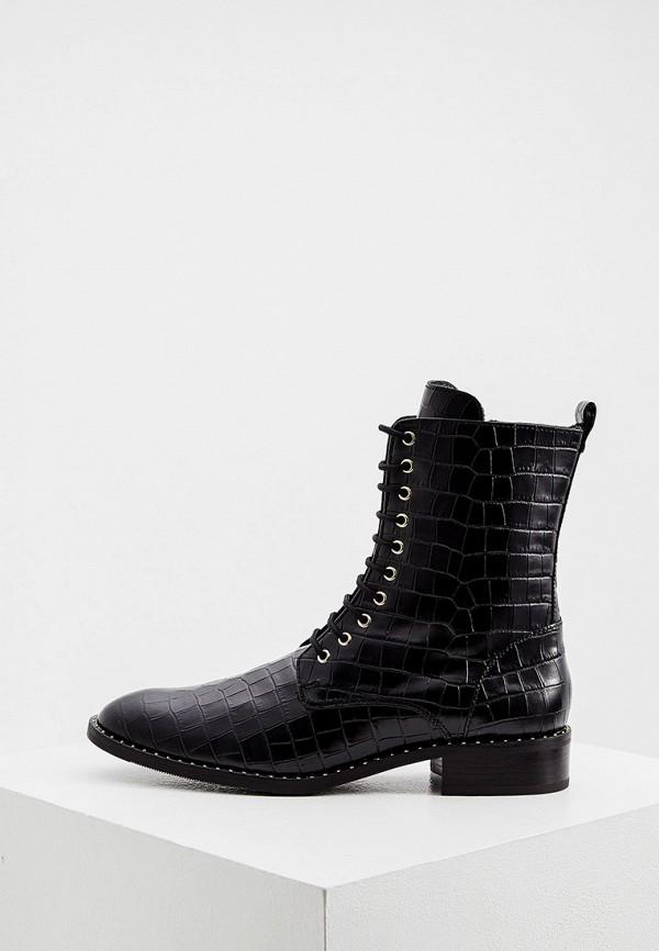 женские высокие ботинки hogl, черные