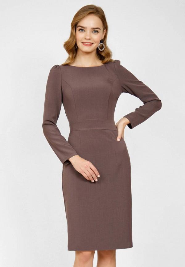 женское платье-футляр olivegrey, коричневое
