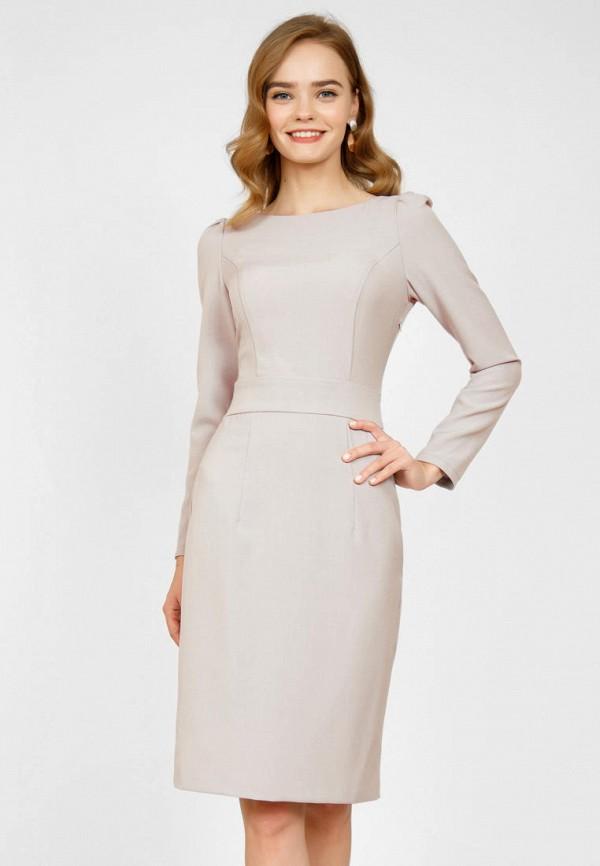 женское платье-футляр olivegrey, серое