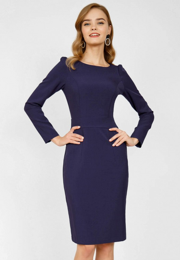 женское платье-футляр olivegrey, синее