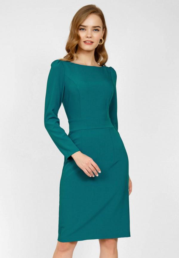 женское платье-футляр olivegrey, бирюзовое