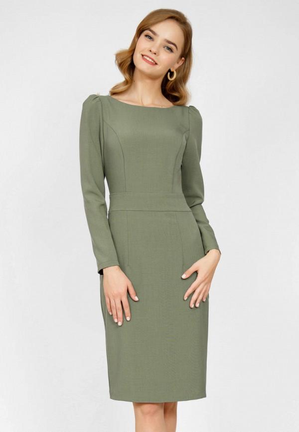 женское платье-футляр olivegrey, зеленое