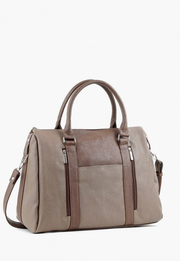 женская сумка с ручками vita, коричневая
