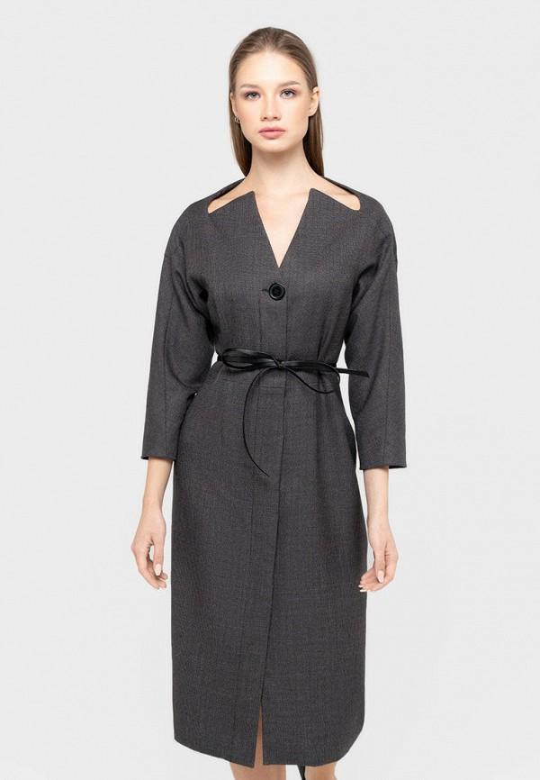женское платье-футляр bru, серое
