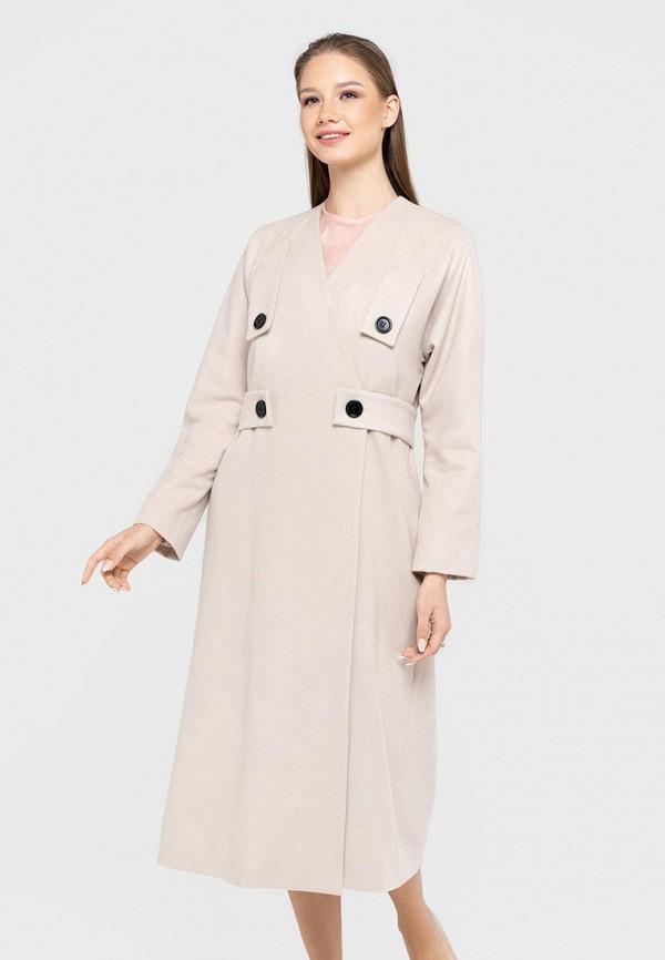 женское пальто bru, бежевое