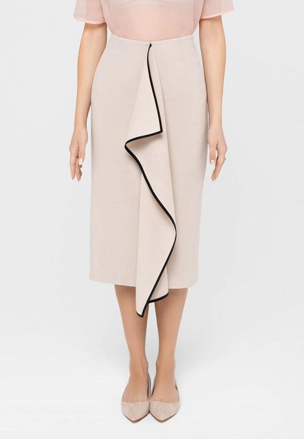 женская прямые юбка bru, бежевая