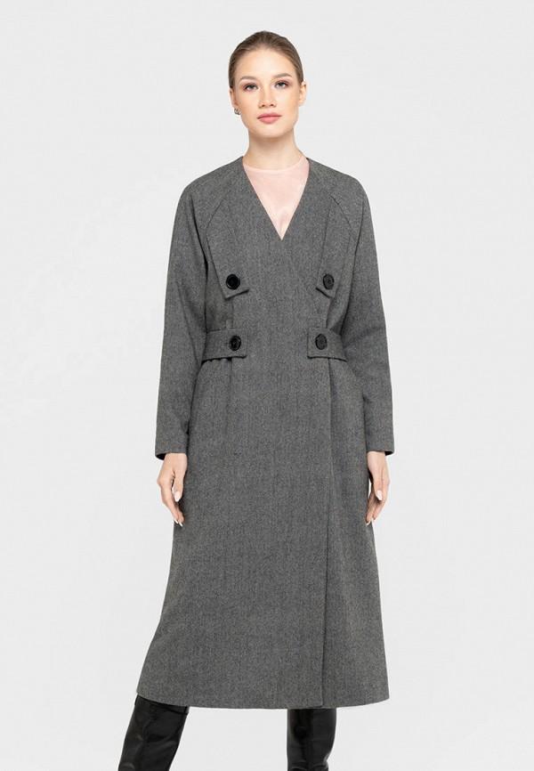 женское пальто bru, серое