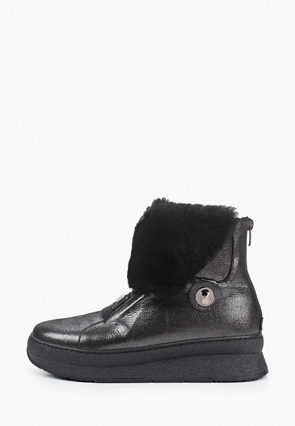 женские высокие ботинки vitacci, серебряные
