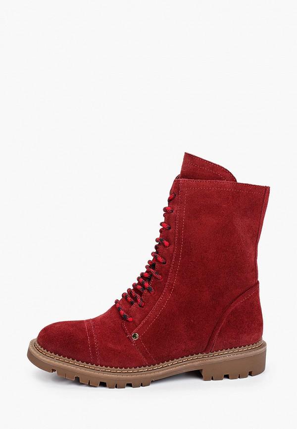 женские высокие ботинки vitacci, бордовые