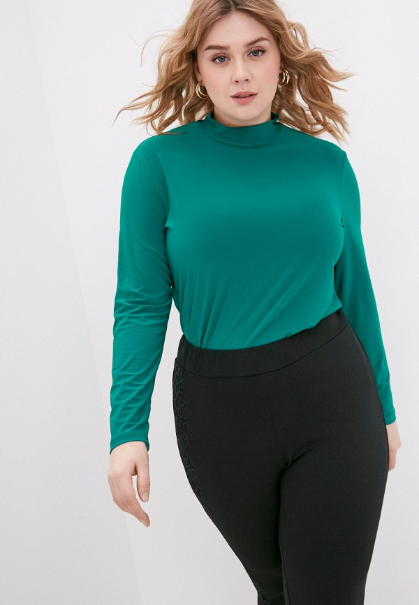 женская водолазка olsi, зеленая