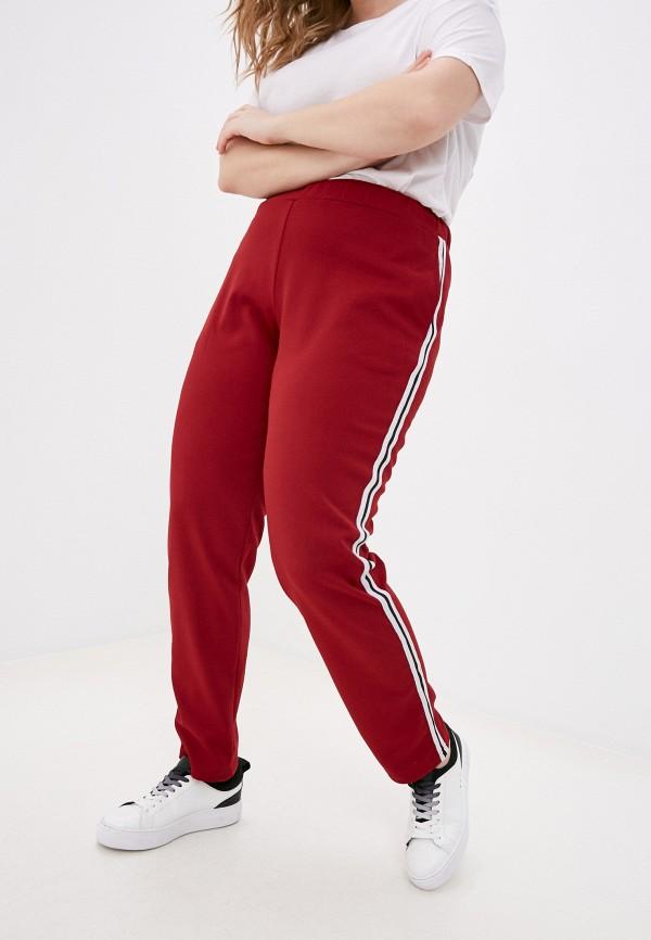 женские зауженные брюки olsi, бордовые