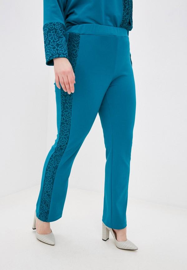 женские повседневные брюки olsi, бирюзовые