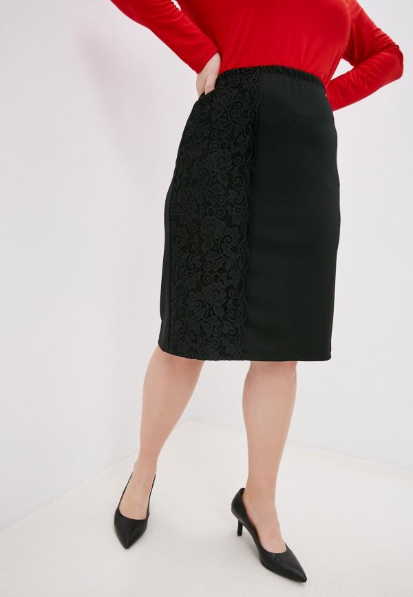 женская прямые юбка olsi, черная