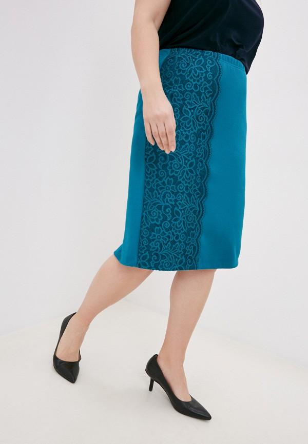 женская прямые юбка olsi, бирюзовая