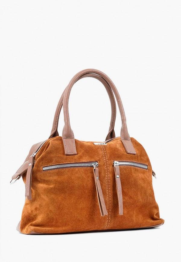 женская сумка с ручками vita, оранжевая