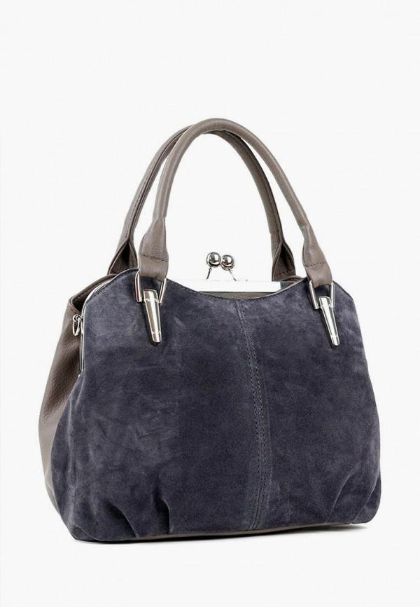 женская сумка с ручками vita, синяя