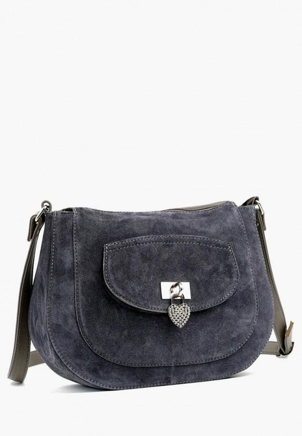 женская сумка через плечо vita, синяя