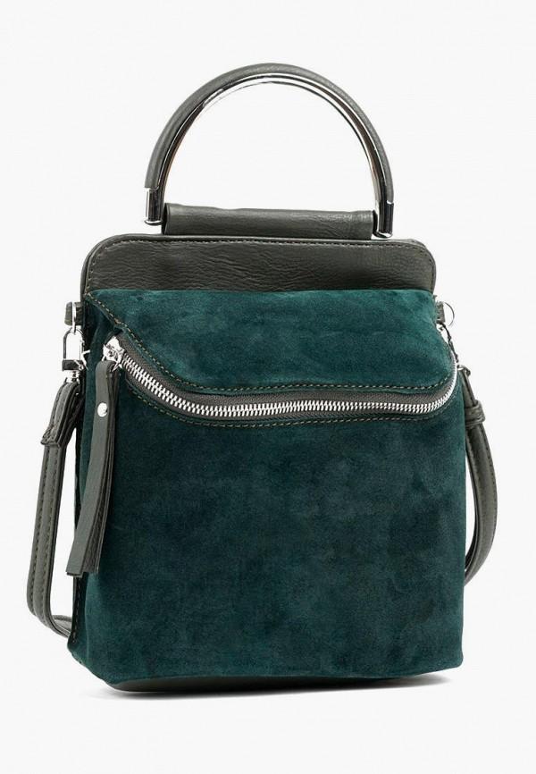 женская сумка с ручками vita, зеленая