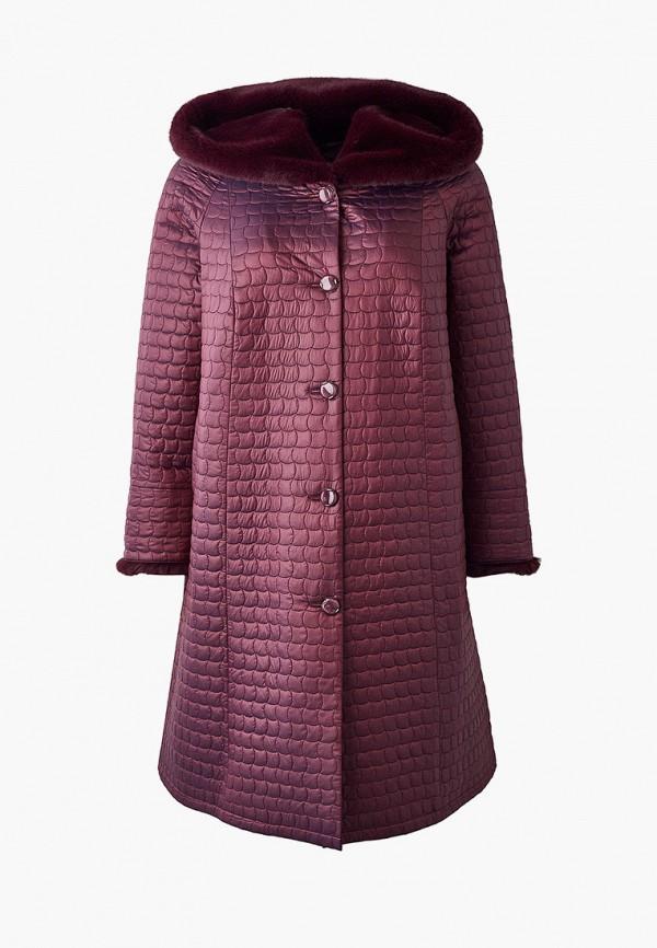 женская утепленные куртка trevery, бордовая