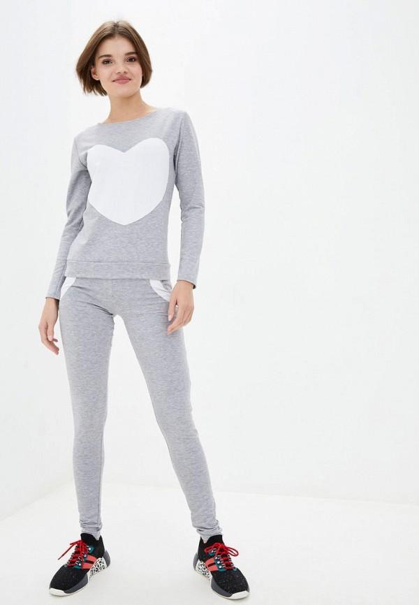 женский спортивный костюм подіум, серый