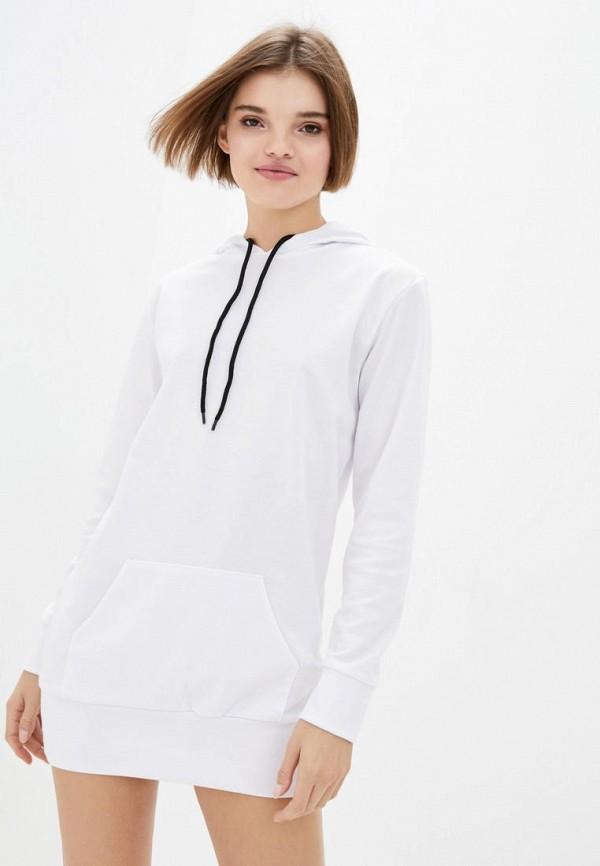 женское платье подіум, белое