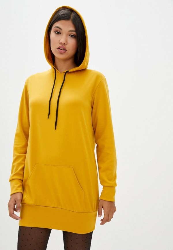 женское платье подіум, желтое