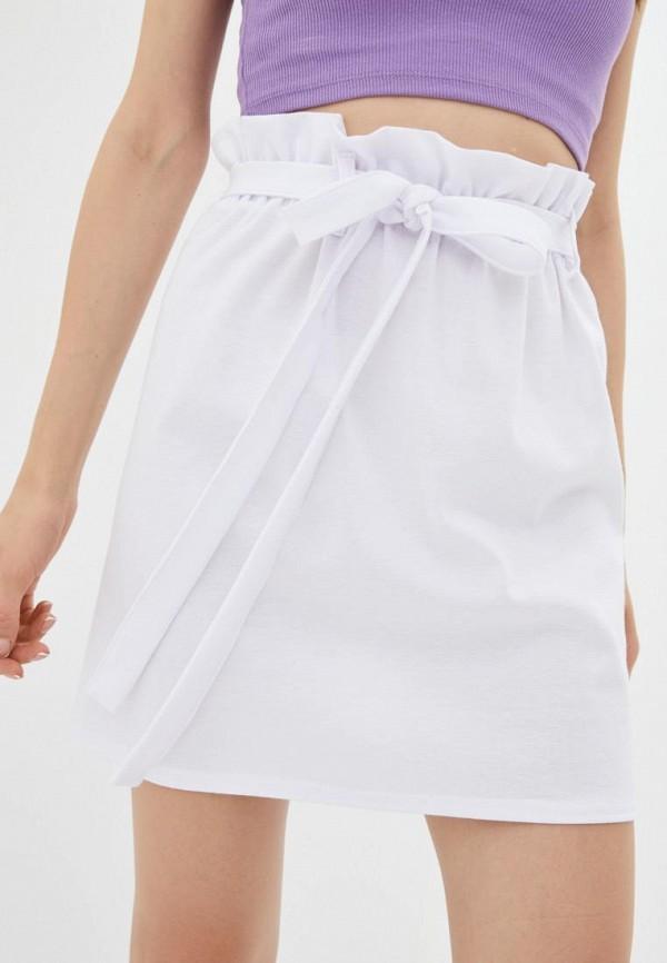 женская прямые юбка подіум, белая